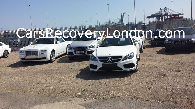 Brand new Mercedes Transported to Southampton Docks